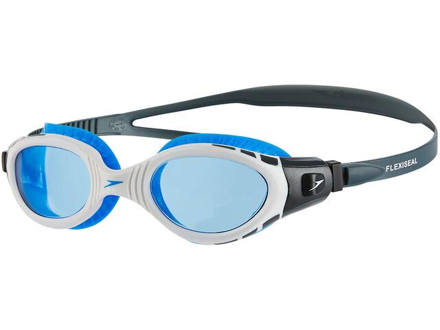 speedo Futura Biofuse Flexiseal Goggle Oxid Grey White Blue ... e3235058f6d22